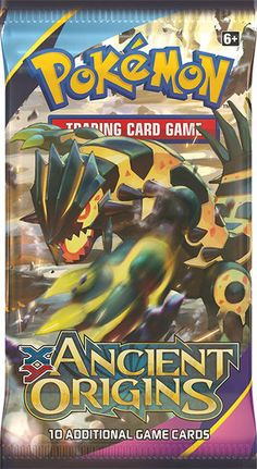 This is a sealed booster pack of the Ancient Origins expansion of the Pokemon Trading Card Game. More