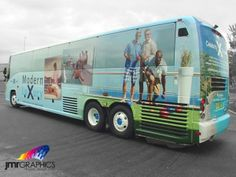 This bus wrap for Celebrity Cruises transports the mind to paradise.