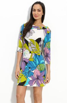 Muse Print Jersey Sheath Dress - I want to look awesome in this dress