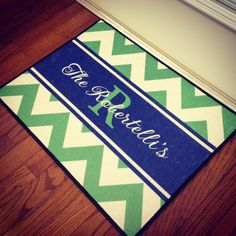 Personalized Door Mat by rrpage on Etsy, $45.00