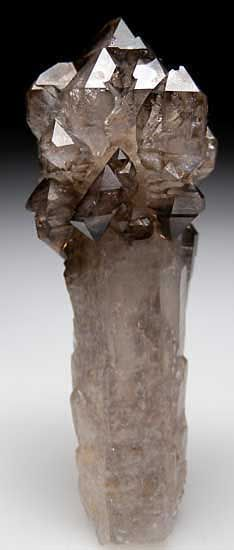 Smoky Quartz-Smokey quartz is nature's stone of endurance. If you need a extra boost, carry a smokey quartz gemstone with you. Minerals And Gemstones, Rocks And Minerals, Raw Gemstones, Natural Crystals, Stones And Crystals, Gem Stones, Crystal Magic, Crystal Castle, Beautiful Rocks