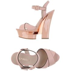 Le Silla Sandals ($128) ❤ liked on Polyvore featuring shoes, sandals, heels, pink, pink sandals, leather shoes, heeled sandals, pink heel sandals and buckle shoes