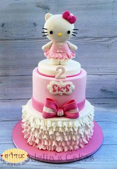 Hello Kitty Birthday cake made with Satin Ice Fondant Hello Kitty Torte, Bolo Da Hello Kitty, Hello Kitty Fondant, Hello Kitty Cupcakes, Hello Kitty Cake Design, Hello Kitty Birthday Theme, Hello Kitty Themes, Anniversaire Hello Kitty, Hello Kitty Collection