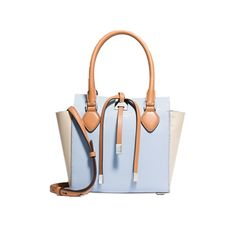 Miranda Extra Small French Calf - Supremely chic in tri-color calf leather, the petite silhouette of this Michael Kors tote makes it breezy enough for weekend wear, too. - Found at myWebRoom.com