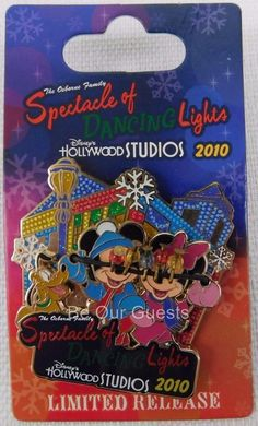 Disney Osborne Family Spectacle of Dancing Lights 2010 Mickey Minnie Pin New