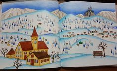 """24 Likes, 3 Comments - @lisanlovecoloring_1 on Instagram: """"Winter  #romanticcountrycoloringbook #romanticcountry #lisanlovecolouring_1 #antistress…"""""""