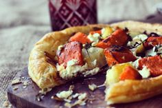 Sweet Potato + Goat's Curd Tart with Sticky Sweet Onions