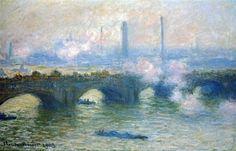 Waterloo Bridge painted by Claude Monet in 1903
