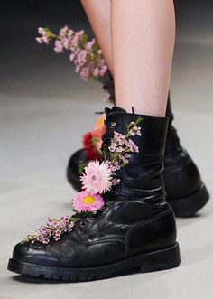 Flowers in your boots