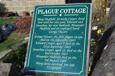 Eyam, Derbyshire, England. The Plague Village where scores of people died from the Bubonic Plague between 1665-1666