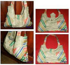 Bolso combinado grande - Con paso a paso para hacer los moldes y el armado del bolso ( 5 ejemplos)                                        Largest Combined Bag - With step by step to make molds and armed bag (5 examples)