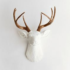 White Faux Taxidermy - The Lydia ($89.99)