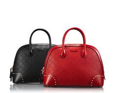 bright diamante GG leather top handle bag