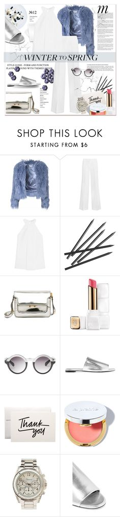"""""""Winter to Spring Layers"""" by stylemeup-649 ❤ liked on Polyvore featuring Whiteley, Glamorous, MICHAEL Michael Kors, CB2, Marni, Guerlain, Monki, Robert Clergerie, La Prairie and Charlotte Russe"""