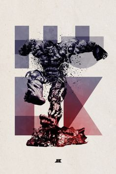 Hulk - Cool typography art for a few heroes