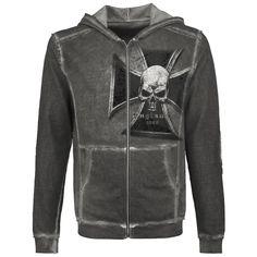 """Si vous aimez les sweat-shirts zippés à capuche de Alchemy England, vous aller adorer le sweat-shirt zippé """"Iron Cross"""". Grâce à son prétraitement délavé dans le style Vintage, ce sweat-shirt a un look unique et est très confortable. Sur le ..."""