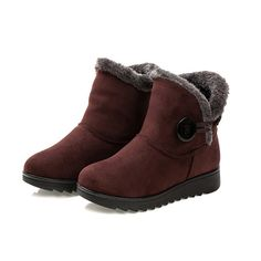 """Dear Time Women Winter Warm Button Snow Boots US 9. Made in China/if any problems,plz contact us first,thanks!. Heel height:3cm=1.18"""". Shaft measures approximately 12cm=4.72"""" from arch. Anti slip polyurethane sole. Imported."""