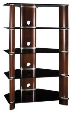 has the Bush® Segments Collection Audio Tower you need for home office or business. Hifi Stand, Audio Stand, Tv Trolley, Audio Rack, Stereo Cabinet, Media Furniture, At Home Movie Theater, Rack Design, Hifi Audio