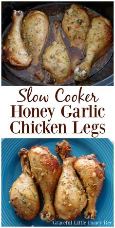 You've got to try these Slow Cooker Honey Garlic Chicken Legs for a quick and frugal dish that is full of flavor! I promise you won't be disappointed. Try this quick and easy Slow Cooker Honey Garlic Chicken Leg recipe for a frugal and flavorful dinner! Chicken Leg Slow Cooker, Crockpot Chicken Leg Recipes, Chicken Drumstick Recipes, Crock Pot Slow Cooker, Slow Cooker Recipes, Cooking Recipes, Crockpot Meals, Drumstick Crockpot, Crock Pots