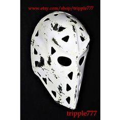 RARE vintage style fiberglass hockey goalie worn look mask helmet - Mike Liut St. HO02