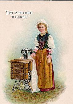 Singer Sewing Machine trade card -- Switzerland -- c. 1900 by bjebie, via Flickr
