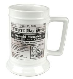 Father's Day Headline Ceramic Beer Steins