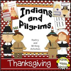 Indians and Pilgrims is a fun writing and poetry file! Your kids will have fun creating the Pilgrim and Indian writing activities about what Indians and Pilgrims can do. We read the book One Little, Two Little, Three Little Pilgrims by B.G, Hennessy.  This helps them with things that Pilgrims and Indians can do.