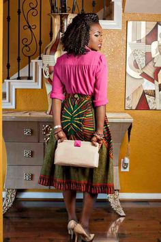 Ankara. Printed Skirt. Bold. West African Fashion.