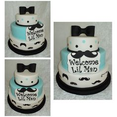 Lil Man(Mustache) Cake on Cake Central