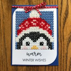 Warm winter wishes. I created this pattern from Pinterest. I am attaching my pattern I made. I used the Paper Smooches square die and MFT…