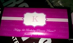Personalized candy bar wrappers at personalization.com
