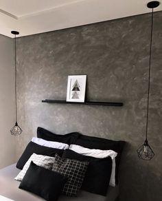 Girl Bedroom Walls, Bedroom Door Design, Bedroom Setup, Room Ideas Bedroom, Home Room Design, Home Bedroom, Bedroom Decor, Mens Room Decor, Black And Grey Bedroom