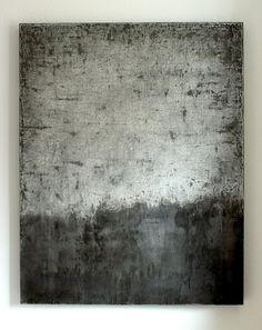 monochrom concrete - 140 x 111 x 8 cm, mixed media on wooden board - CHRISTIAN HETZEL