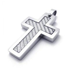 Black incomplete fill quadrate titanium cross pendant 19666 titanium cross pendant 21386 mozeypictures Images