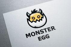 Monster Egg Logo Template @creativework247