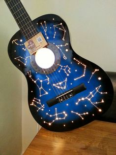Guitar Lamp Personalisable & Unique Eco by ReviveItOnTheCoast