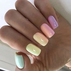 39 Gorgeous Summer Nails You Need to Try Vava Voom Nails. 39 Gorgeous Summer Nails You Need . Summer Acrylic Nails, Cute Acrylic Nails, Cute Nails, My Nails, Long Nails, Cute Short Nails, Acrylic Nail Designs, Gel Ombre Nails, Summer Shellac Nails