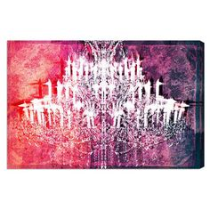 Canvas print with a graphic chandelier motif. Made in the USA. Product: Wall artConstruction Material: Canvas...