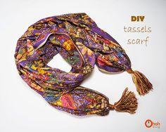 Ohoh Blog - diy and crafts: DIY tassels scarf