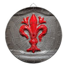Red Lily of Florence Dart Board - $ 65.95