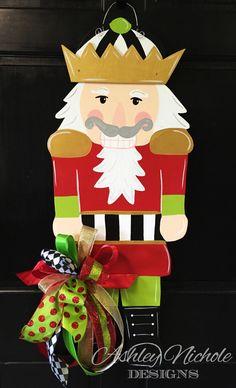 Nutcracker Christmas Door Decor