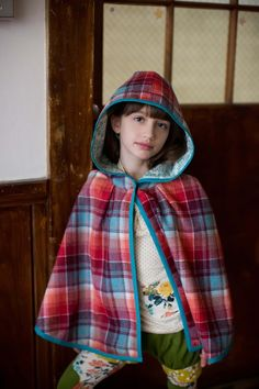 Sunset Wool Reversible Cape from The Measure