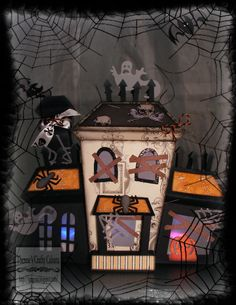 ELMHURST HOLLOW SVG KIT has this amazing haunted house and we love what Therese did with hers!