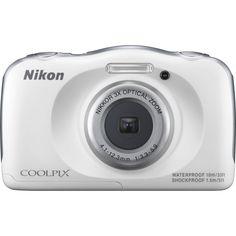 BRAND NEW Nikon Coolpix S33 13.2 MP Digital Camera WATERPROOF White USA WARRANTY