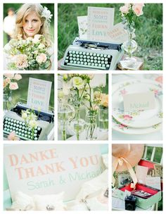 Peach & Mint wedding theme