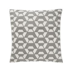 """The Callum Pillow at DwellStudio, graphic and textured, Callum's pattern is brought to life by intricate embroidery; smoke; cotton and flax; 20""""x20"""", $89"""