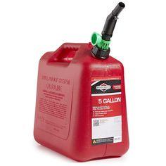 Gas Can Auto Shut Off New 5 Gallon Gasoline Container Spill Proof Lawn Garden #BriggsStratton