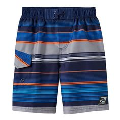Girls 4-7 Laguna Swim Blue Stripe Swim Trunks (Navy)