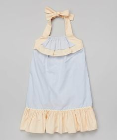 Look at this Light Blue & Yellow Brooke Halter Dress - Infant & Toddler on #zulily today!