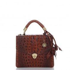 Brahmin Handbags: Pecan Croco